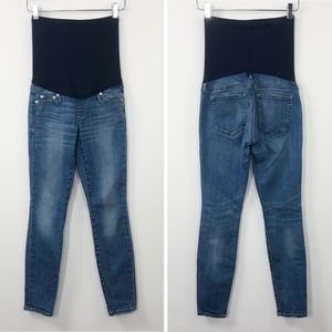 Gap Maternity Jeans Skinny Short Crop Full Belly 0